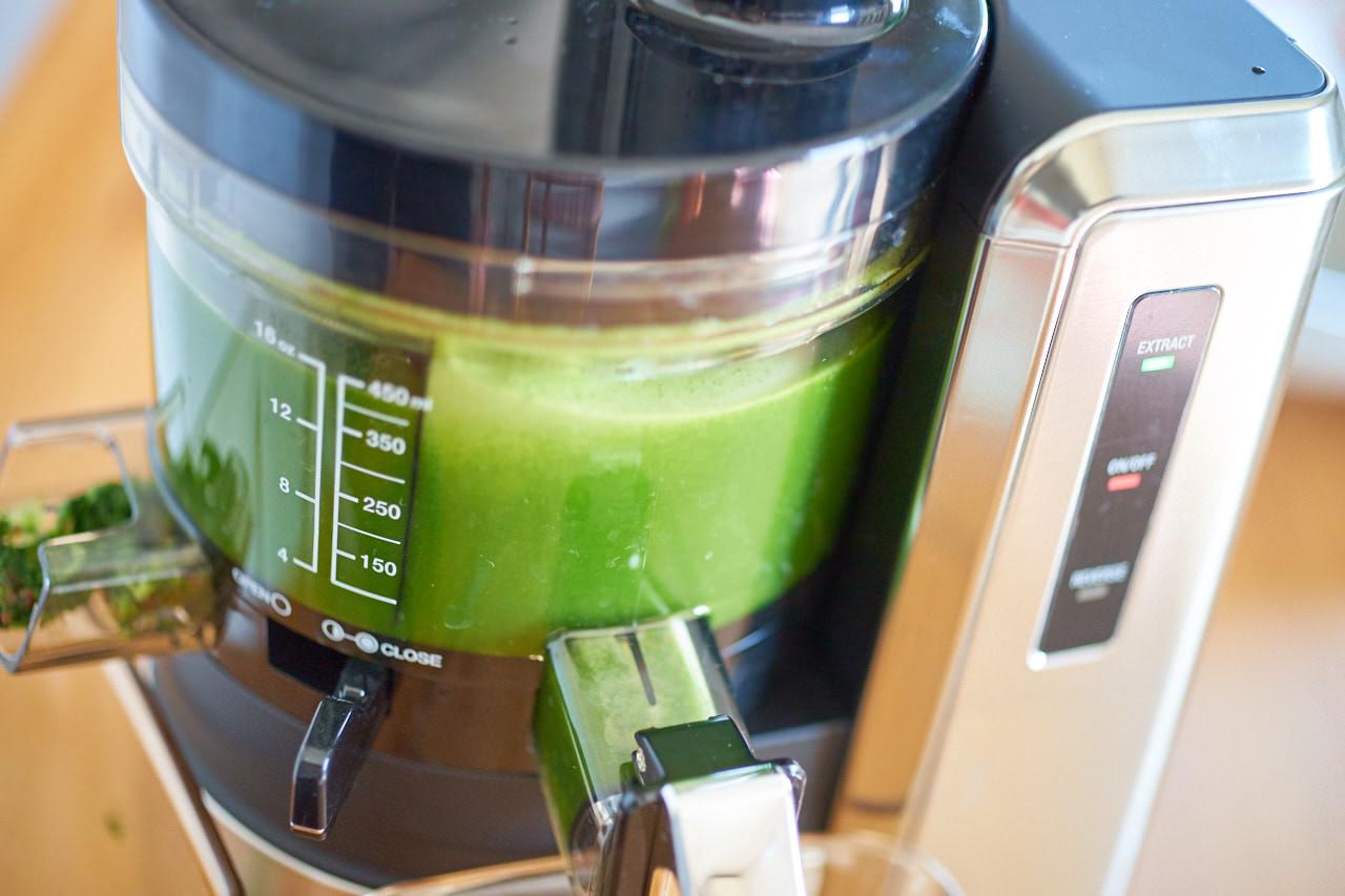 Grüner Rohkostsaft