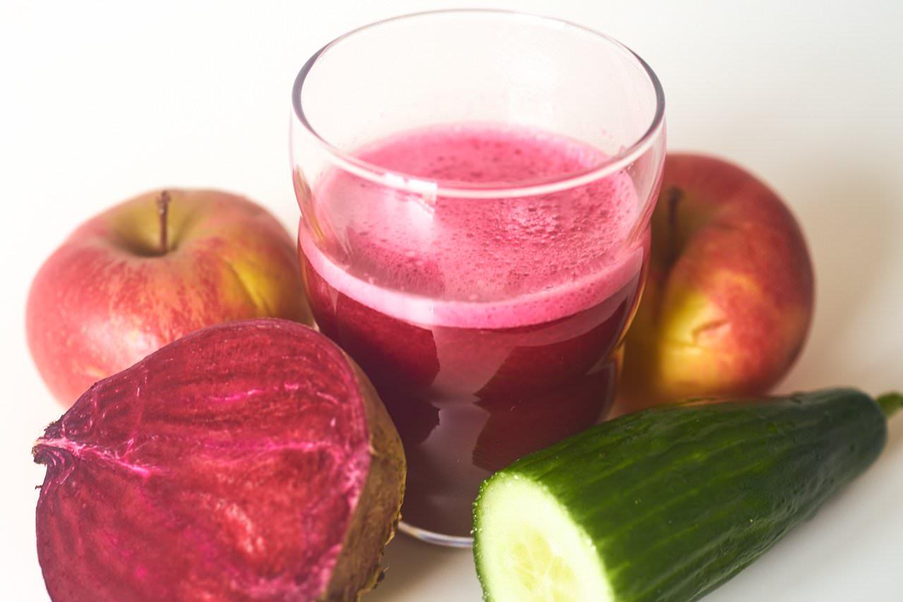 Saft Apfel rote Beete Gurke