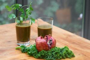 Saft Grünkohl Granatapfel