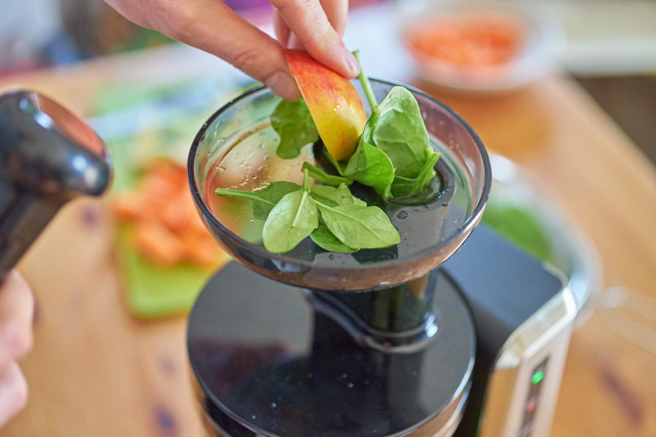Spinat für grünen Saft