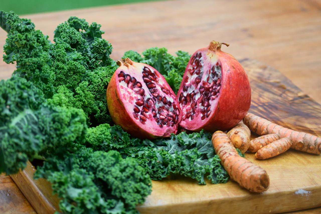 Zutaten Grünkohl Granatapfel
