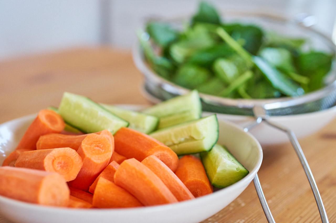 Zutaten Karotte Gurke Spinat